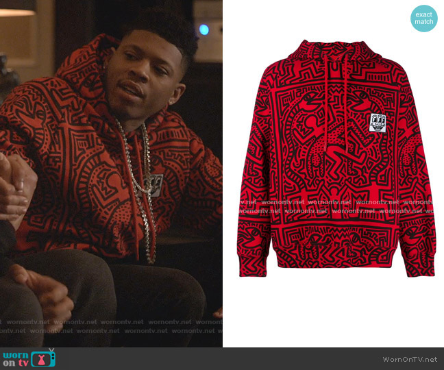 Odysseus Printed Hoodie by Etudes x Keith Haring worn by Hakeem Lyon (Bryshere Y. Gray) on Empire