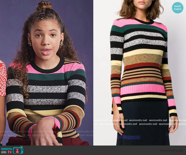 Striped Sweater by Kenzo worn by Izzy Barris (Scarlet Spencer) on BlackAF