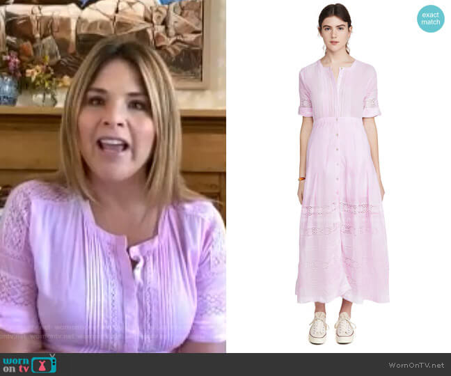 Edie Dress by LoveShackFancy worn by Jenna Bush Hager  on Today