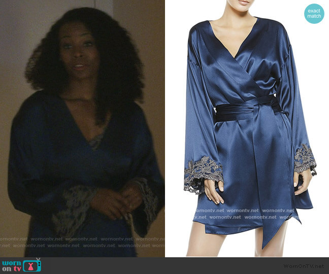 Maison Silk Robe by La Perla worn by Barbara Kolstad (Erica Tazel) on The Good Fight