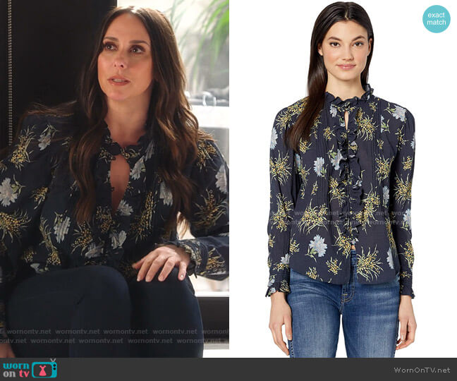 Jasmine Top by Rebecca Taylor worn by Maddie Kendall (Jennifer Love Hewitt) on 9-1-1