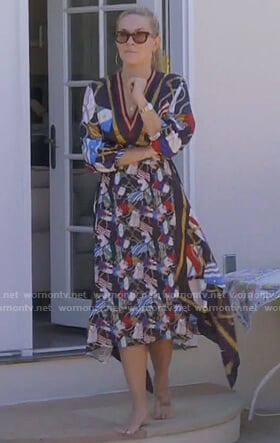 Leah's flag print dress on The Real Housewives of New York City