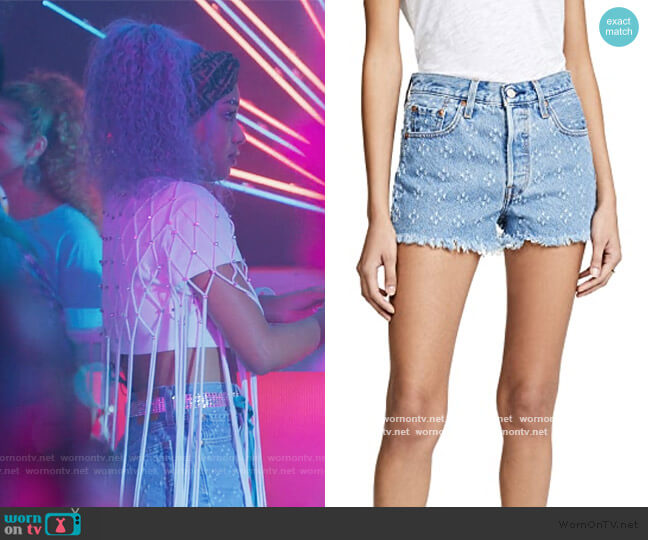 501 High Rise Shorts by Levis worn by Chloe Barris (Genneya Walton) on BlackAF