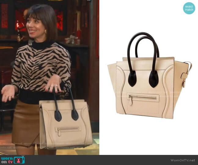 Luggage Hand bag by Celine worn by Elizabeth (Natasha Leggero) on Broke