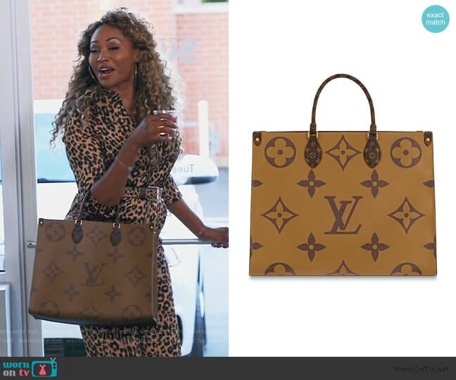 On The Go GM bag by Louis Vuitton worn by Cynthia Bailey  on The Real Housewives of Atlanta