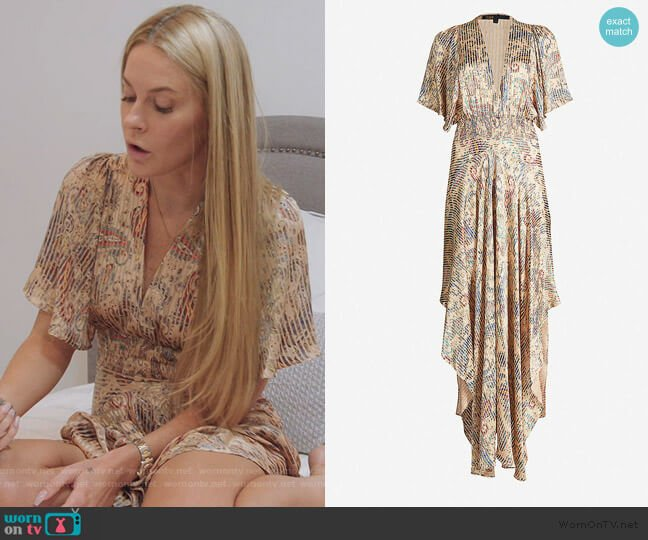 Burn-out printed Scarf Smock Dress by Maje worn by Leah McSweeney  on The Real Housewives of New York City