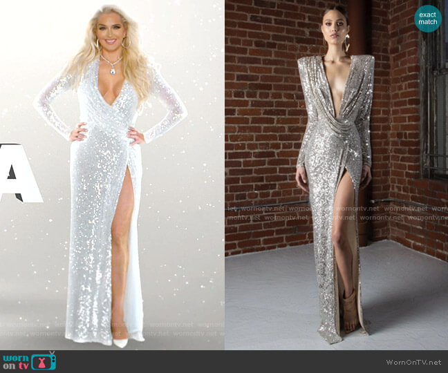 Harper 24 dress by Michael Costello worn by Erika Girardi  on The Real Housewives of Beverly Hills