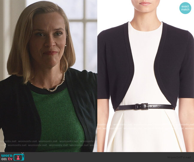 Merino Wool Cropped Shrug by Michael Kors worn by Elena Richardson (Reese Witherspoon) on Little Fires Everywhere