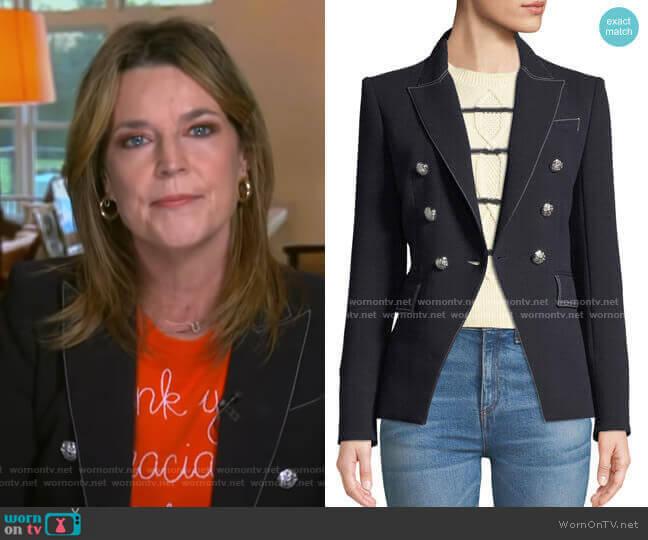 Miller Blazer by Veronica Beard worn by Savannah Guthrie  on Today