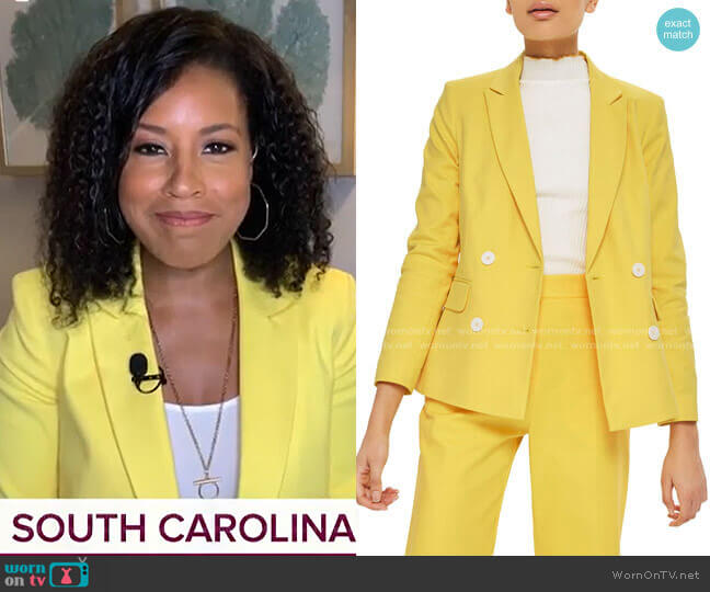 Milly Double Breasted Suit Jacket by Topshop worn by Sheinelle Jones  on Today