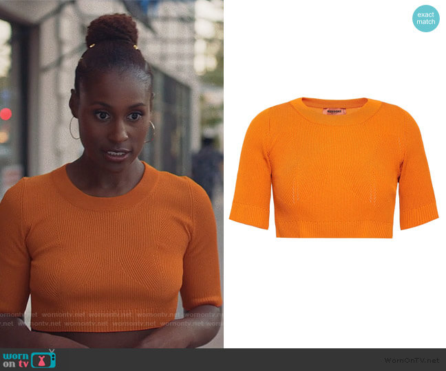 Cropped Ribbed Knit Top by Missoni worn by Issa Dee (Issa Rae) on Insecure