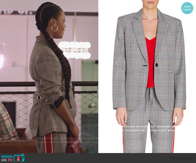 Glen Plaid Blazer and Pants by Monse worn by Condola (Christina Elmore) on Insecure