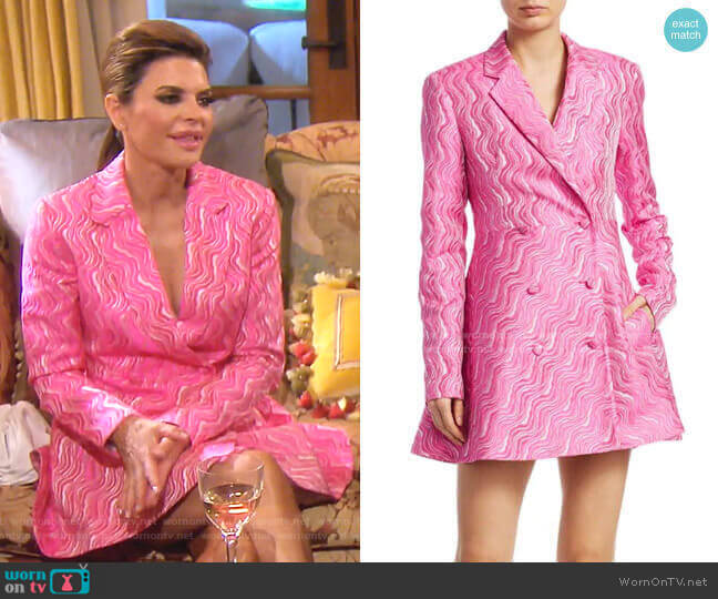 N.23 Double-Breasted Jacquard Blazer Dress by Rotate worn by Lisa Rinna  on The Real Housewives of Beverly Hills