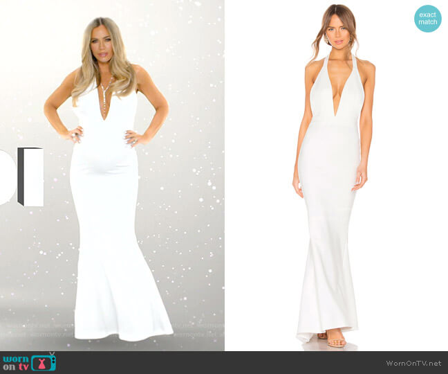Jenny From The Block Gown by NBD worn by Teddi Mellencamp Arroyave  on The Real Housewives of Beverly Hills