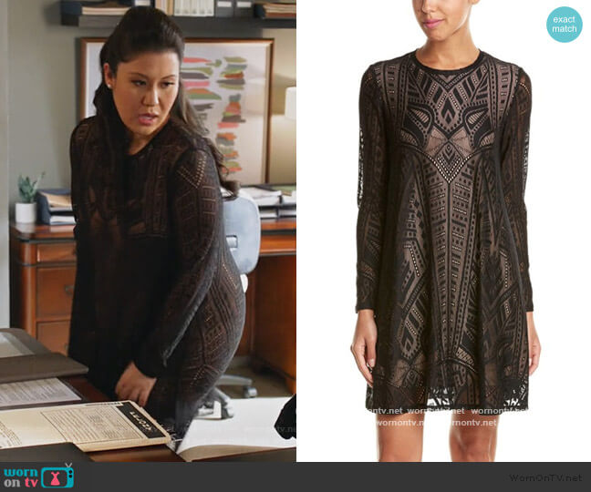 Natyly Line Dress by BCBGMAXAZRIA worn by Sherri Kansky (Ruthie Ann Miles) on All Rise