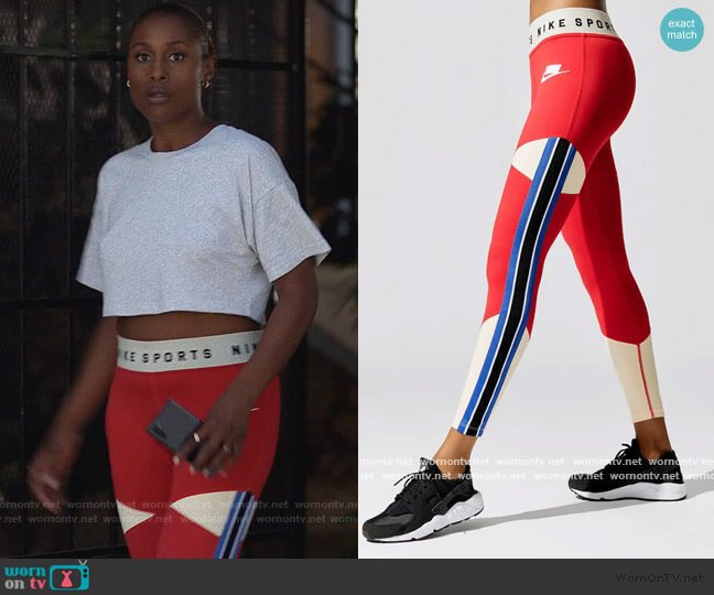 Graphic Leggings by Nike worn by Issa Dee (Issa Rae) on Insecure