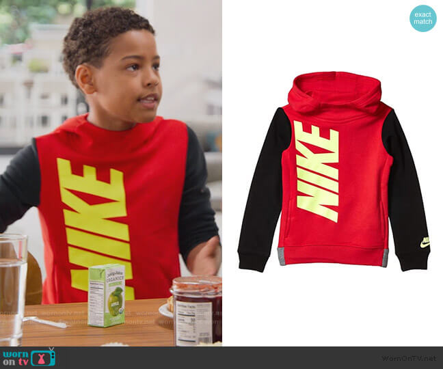 Colorblock Pullover Hoodie by Nike worn by Pops Barris (Justin Claiborne) on BlackAF