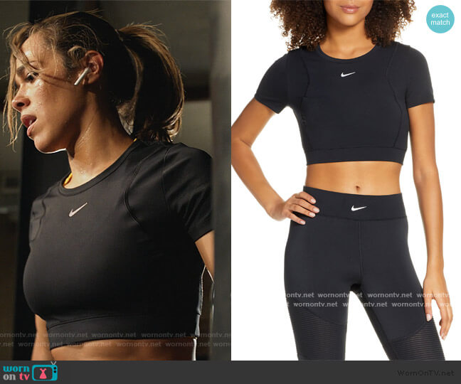 Pro AeroAdapt Crop Top by Nike worn by Emily Lopez (Jessica Camacho) on All Rise