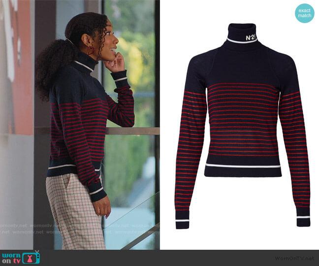 Knit Logo Turtleneck by No.21 worn by Kenya Barris  on BlackAF