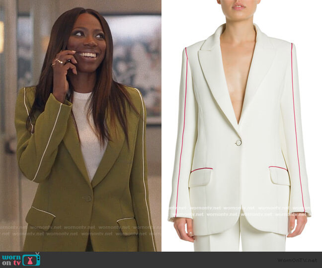 Bonded Multi-Detail Tomboy Jacket by Off-White worn by Molly Carter (Yvonne Orji) on Insecure