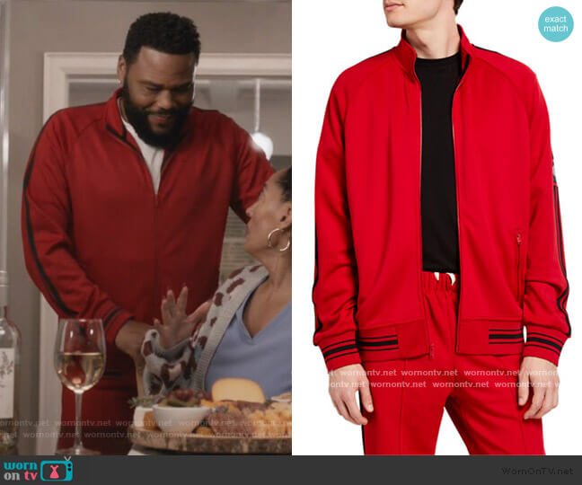 Ball Track Jacket by Ovadia worn by Andre Johnson (Anthony Anderson) on Blackish
