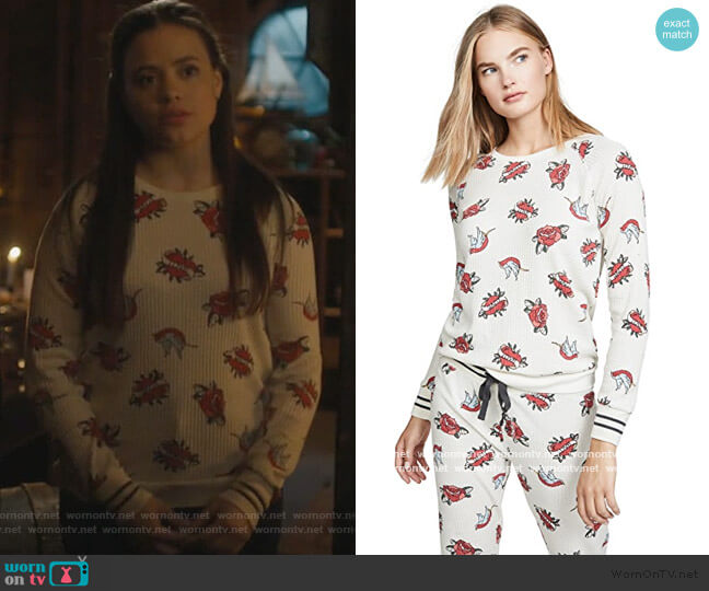 Lovegram Top by PJ Salvage worn by Maggie Vera (Sarah Jeffery) on Charmed