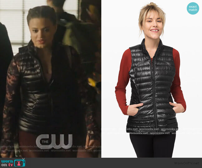 Pack It Down Vest by Lululemon worn by Maggie Vera (Sarah Jeffery) on Charmed