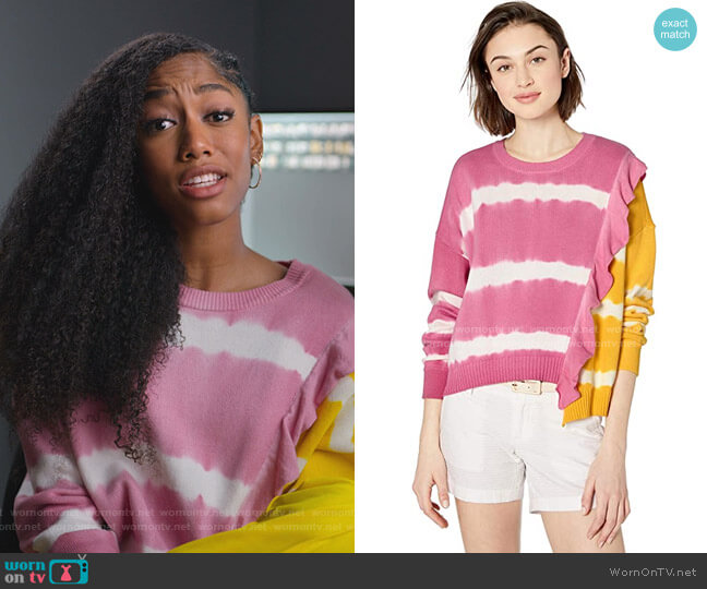 Jorja Asymmetrical Tie Dye Sweater by Parker worn by Drea Barris (Iman Benson) on BlackAF