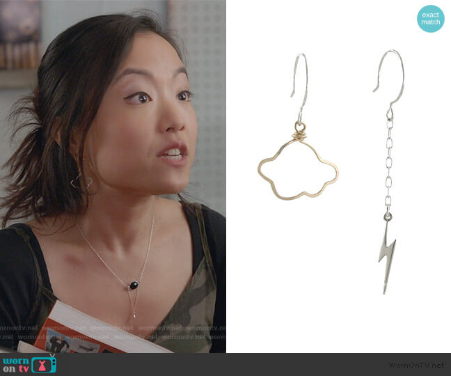 Weather the Storm Necklace by Peggy Li worn by Janet (Andrea Bang) on Kims Convenience