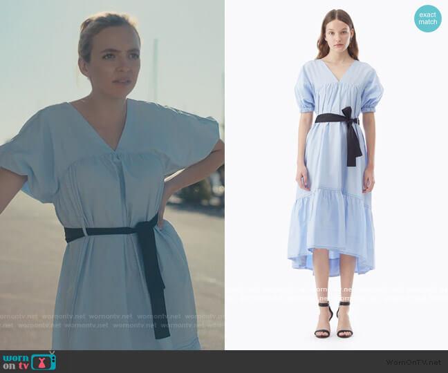 Midi Poplin Flared Dress jby 3.1 Phillip Lim worn by Villanelle (Jodie Comer) on Killing Eve
