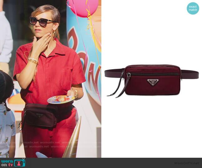 Fabric and Leather Belt Bag by Prada worn by Joya Barris (Rashida Jones) on BlackAF
