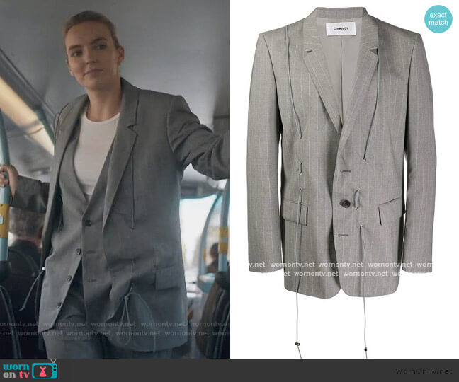 Toggle Detailed Blazer by Chalayan worn by Villanelle (Jodie Comer) on Killing Eve