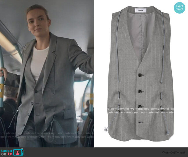 Classic Tailored Vest by Chalayan worn by Villanelle (Jodie Comer) on Killing Eve