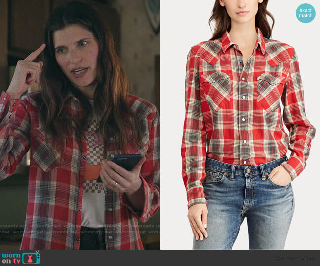 Buffalo Cotton Western Shirt by Ralph Lauren worn by Rio (Lake Bell) on Bless This Mess