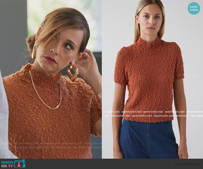 Crop Short Sleeve Sweater by Rachel Comey worn by Joya Barris (Rashida Jones) on BlackAF