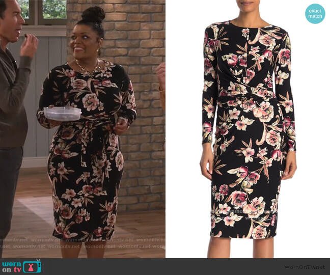 Stella Floral Dress by Rachel Rachel Roy worn by yvette nicole brown on Will and Grace