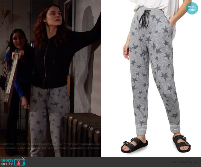 Devon Jogger Pants by Rails worn by Sally Spectra (Courtney Hope) on The Bold & the Beautiful