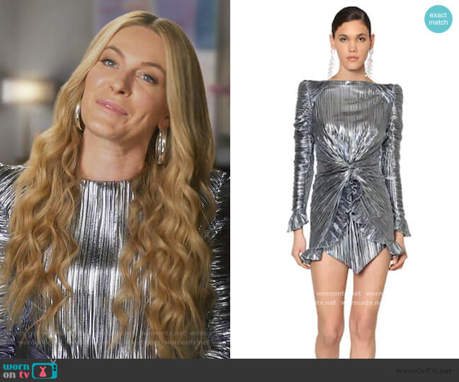 Metallic Jersey Mini Dress by Raisa & Vanessa worn by Leah McSweeney  on The Real Housewives of New York City