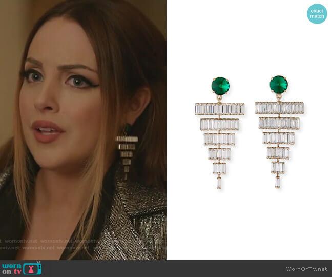 Esmeredla Drop Earrings by Rebekah Price worn by Fallon Carrington (Elizabeth Gillies) on Dynasty