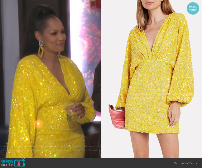 Aubrielle Dress by Retrofete worn by Garcelle Beauvais  on The Real Housewives of Beverly Hills