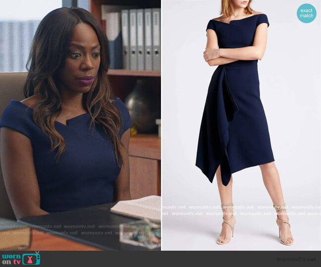 Barwick Dress by Roland Mouret worn by Molly Carter (Yvonne Orji) on Insecure