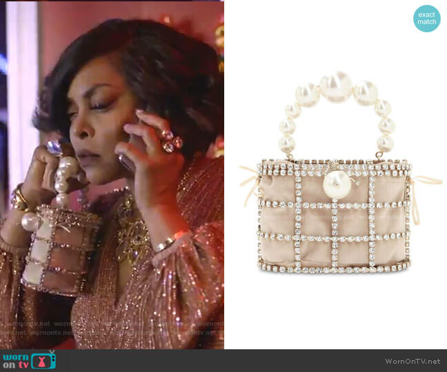 Holli Embellished Top Handle Bag by Rosantica worn by Cookie Lyon (Taraji P. Henson) on Empire
