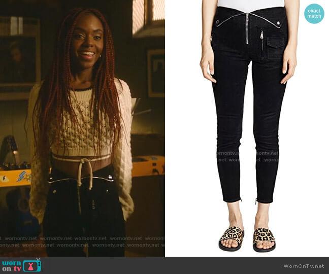 Diavolina Pants by RtA worn by Josie McCoy (Ashleigh Murray) on Katy Keene