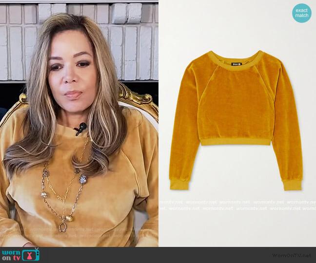 Stretch Velour Sweatshirt by Suzie Kondi worn by Sunny Hostin  on The View