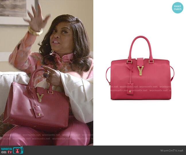 Y Ligne Soft Leather Bag by Saint Laurent worn by Cookie Lyon (Taraji P. Henson) on Empire