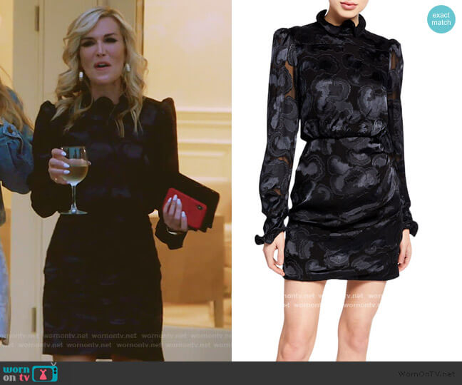 Rina B Dress by Saloni worn by Tinsley Mortimer  on The Real Housewives of New York City