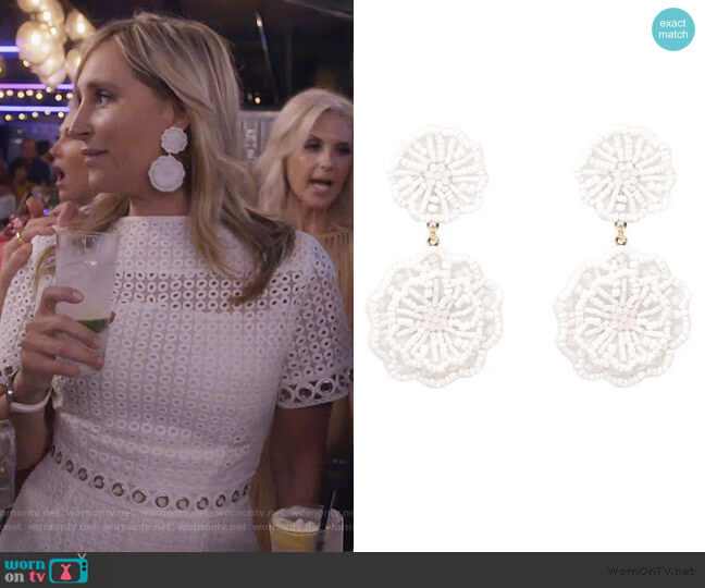 Jada Beaded Earrings by Sonja worn by Sonja Morgan  on The Real Housewives of New York City