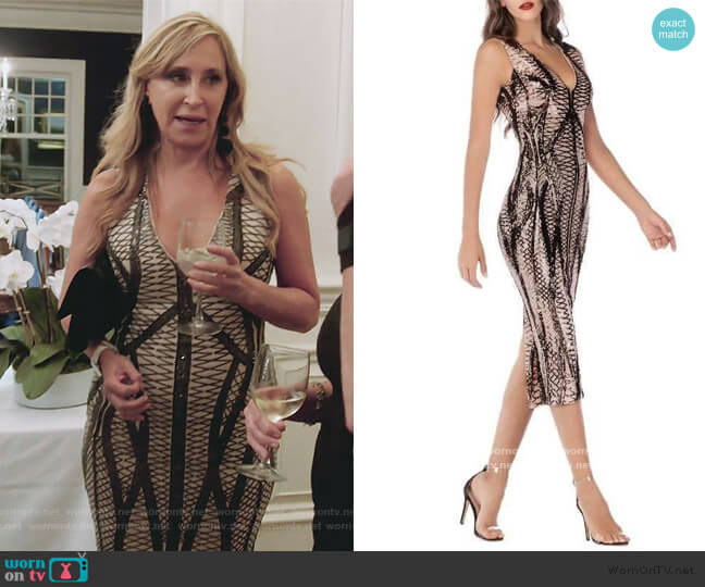 Nicole Midi Dress by Sonja worn by Sonja Morgan  on The Real Housewives of New York City