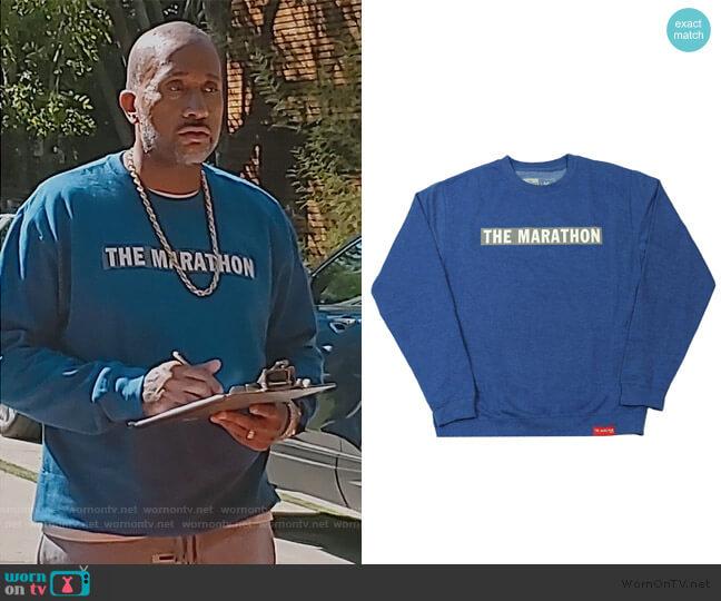 TMC Bar Sweatshirt by The Marathon Clothing worn by Kenya Barris  on BlackAF