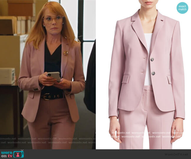 Carissa Wool Blazer by Theory worn by Lisa Benner (Marg Helgenberger) on All Rise